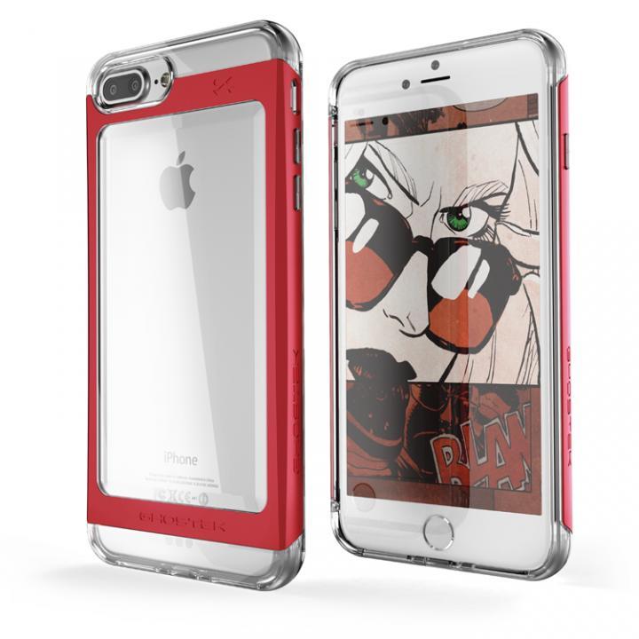 iPhone7 Plus ケース 衝撃吸収アルミバンパー+クリアTPUケース Cloak 2 レッド iPhone 7 Plus_0