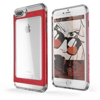 衝撃吸収アルミバンパー+クリアTPUケース Cloak 2 レッド iPhone 7 Plus