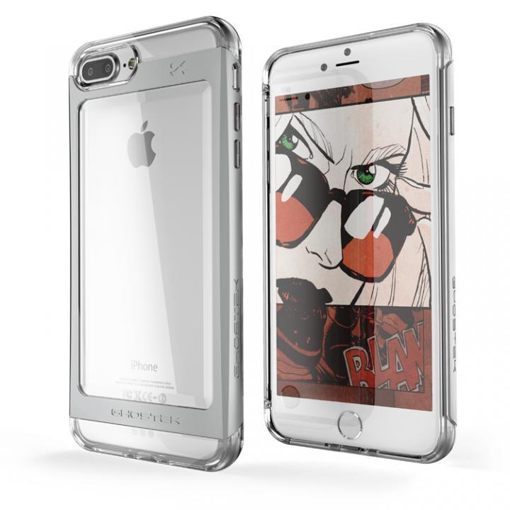 iPhone7 Plus ケース 衝撃吸収アルミバンパー+クリアTPUケース Cloak 2 シルバー iPhone 7 Plus_0