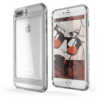 衝撃吸収アルミバンパー+クリアTPUケース Cloak 2 シルバー iPhone 7 Plus
