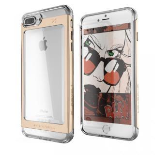 衝撃吸収アルミバンパー+クリアTPUケース Cloak 2 ゴールド iPhone 7 Plus