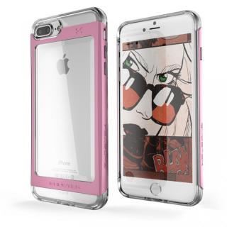 【iPhone7 Plusケース】衝撃吸収アルミバンパー+クリアTPUケース Cloak 2 ピンク iPhone 7 Plus