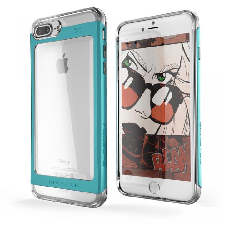iPhone7 Plus ケース 衝撃吸収アルミバンパー+クリアTPUケース Cloak 2 グリーン iPhone 7 Plus_0