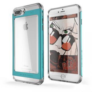 衝撃吸収アルミバンパー+クリアTPUケース Cloak 2 グリーン iPhone 7 Plus