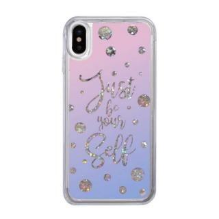 【iPhone XS/Xケース】スパークルケース Calligraphy iPhone XS/X