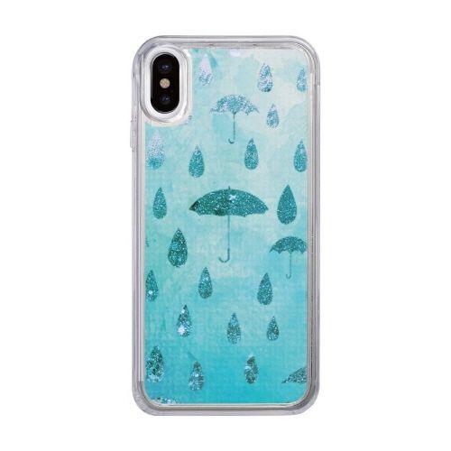 スパークルケース Raining day iPhone X