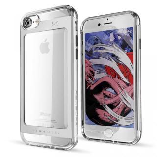 衝撃吸収アルミバンパー+クリアTPUケース Cloak 2 シルバー iPhone 7