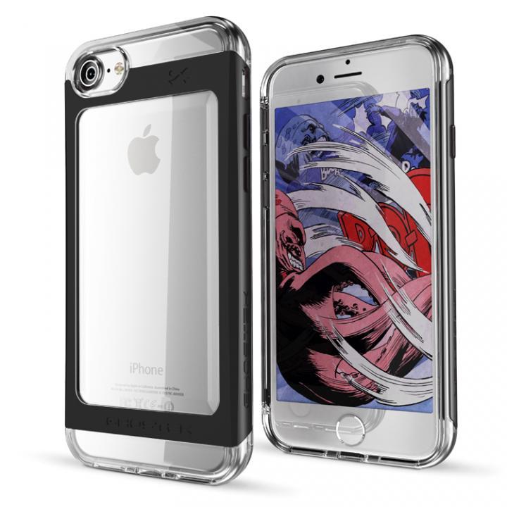 iPhone7 ケース 衝撃吸収アルミバンパー+クリアTPUケース Cloak 2 ブラック iPhone 7_0