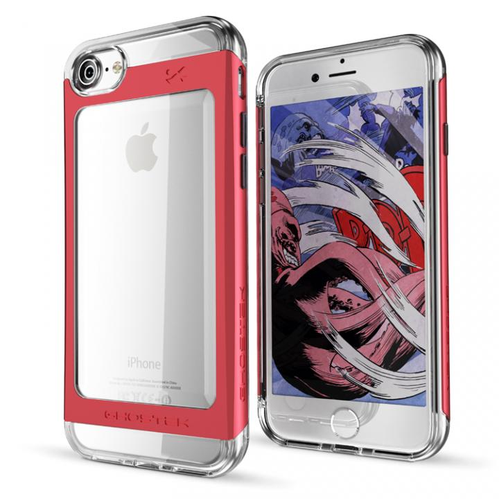 iPhone7 ケース 衝撃吸収アルミバンパー+クリアTPUケース Cloak 2 レッド iPhone 7_0