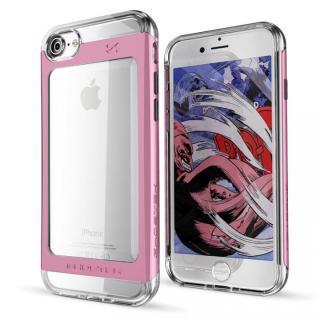 【iPhone7ケース】衝撃吸収アルミバンパー+クリアTPUケース Cloak 2 ピンク iPhone 7