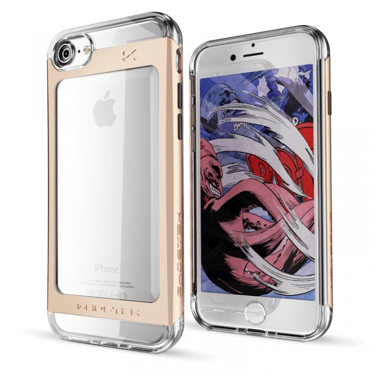 iPhone7 ケース 衝撃吸収アルミバンパー+クリアTPUケース Cloak 2 ゴールド iPhone 7_0