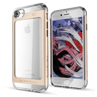 【iPhone7ケース】衝撃吸収アルミバンパー+クリアTPUケース Cloak 2 ゴールド iPhone 7