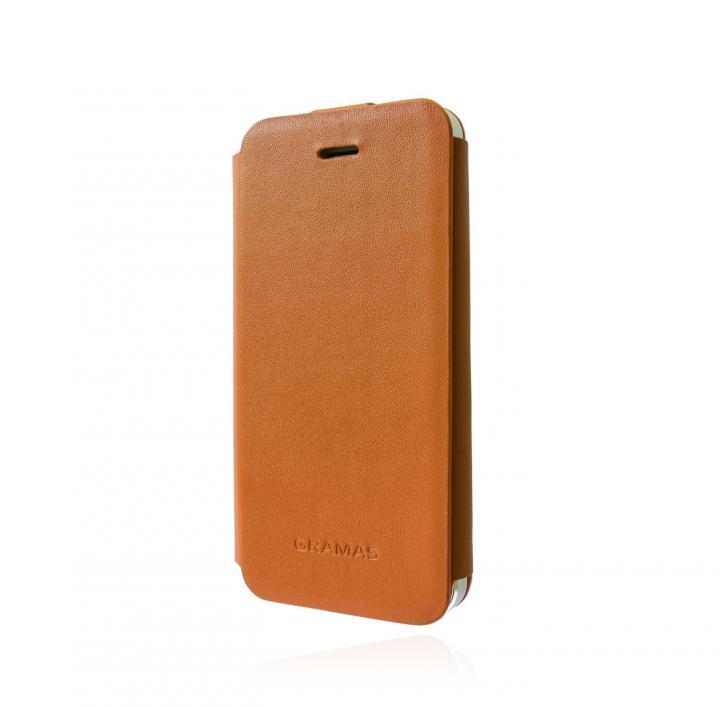 iPhone SE/5s/5 ケース スタイリッシュな本革 GRAMAS Leather Case LC413 タン iPhone 5s/5 手帳型ケース_0