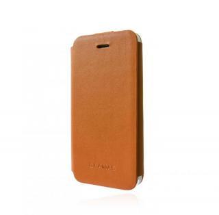 スタイリッシュな本革 GRAMAS Leather Case LC413 タン iPhone 5s/5 手帳型ケース