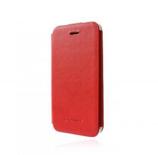 スタイリッシュな本革 手帳型ケース GRAMAS Leather Case LC413 レッド iPhone SE/5s/5