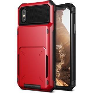 VERUS Damda Folder 耐衝撃背面カードホルダーケース レッド iPhone X