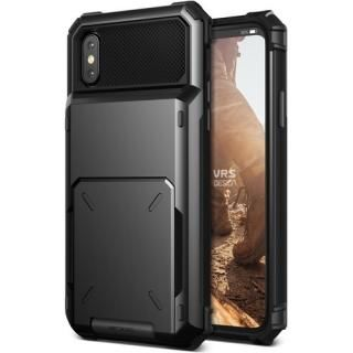 [2018新生活応援特価]VERUS Damda Folder 耐衝撃背面カードホルダーケース ブラック iPhone X