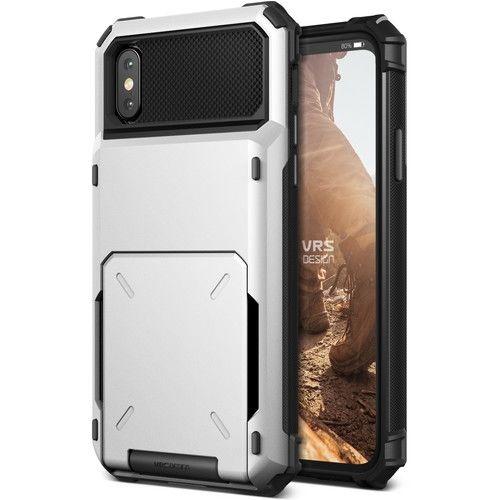 [2018新生活応援特価]VERUS Damda Folder 耐衝撃背面カードホルダーケース ホワイト iPhone X