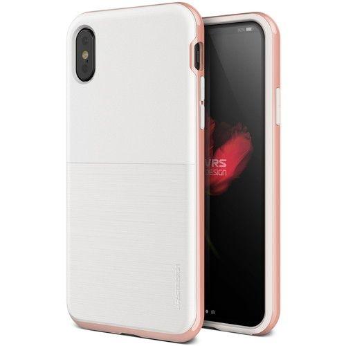 VERUS High Pro Shield - S (MIL) 耐衝撃ケース ホワイト&ローズゴールド iPhone X