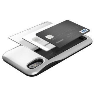 【iPhone XS/Xケース】VERUS Damda Glide (MIL) 耐衝撃背面カードホルダーケース シルバー iPhone XS/X_1