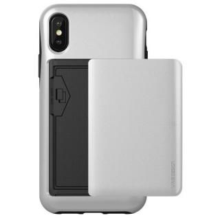 【iPhone XS/Xケース】VERUS Damda Glide (MIL) 耐衝撃背面カードホルダーケース シルバー iPhone XS/X_2