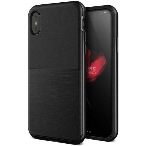 【iPhone XS/Xケース】VERUS High Pro Shield (MIL) 耐衝撃ケース メタルブラック iPhone XS/X_0