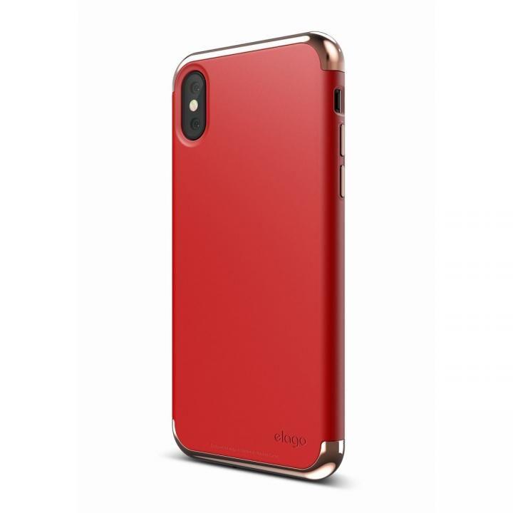 iPhone X ケース elago S8 EMPIRE ローズゴールド/レッド iPhone X_0