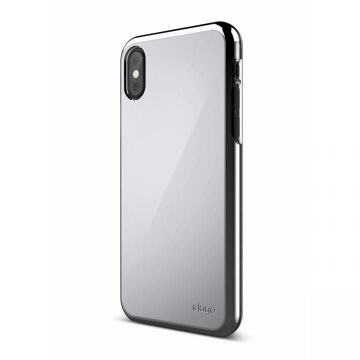 iPhone XS/X ケース elago S8 SLIM FIT 2 薄型ケース クローム iPhone XS/X_0