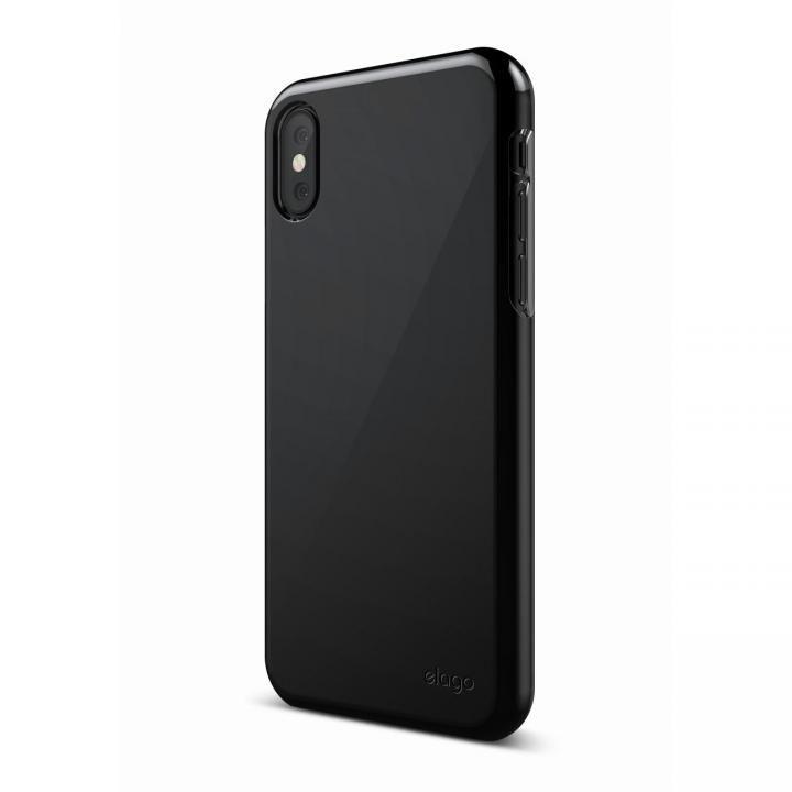 【iPhone XS/Xケース】elago S8 SLIM FIT 2 薄型ケース ブラック iPhone XS/X_0