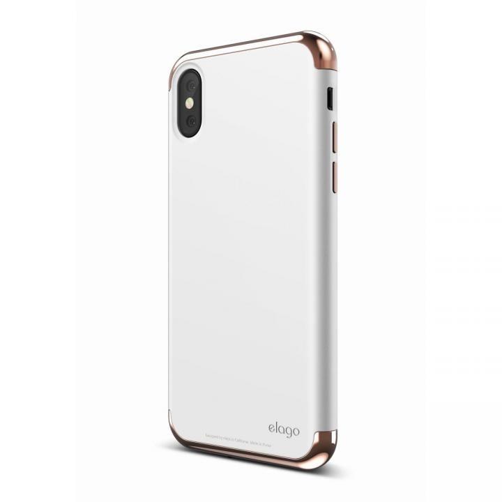 iPhone X ケース elago S8 EMPIRE ローズゴールド/ホワイト iPhone X_0