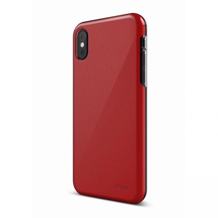 elago S8 SLIM FIT 2 薄型ケース レッド iPhone X