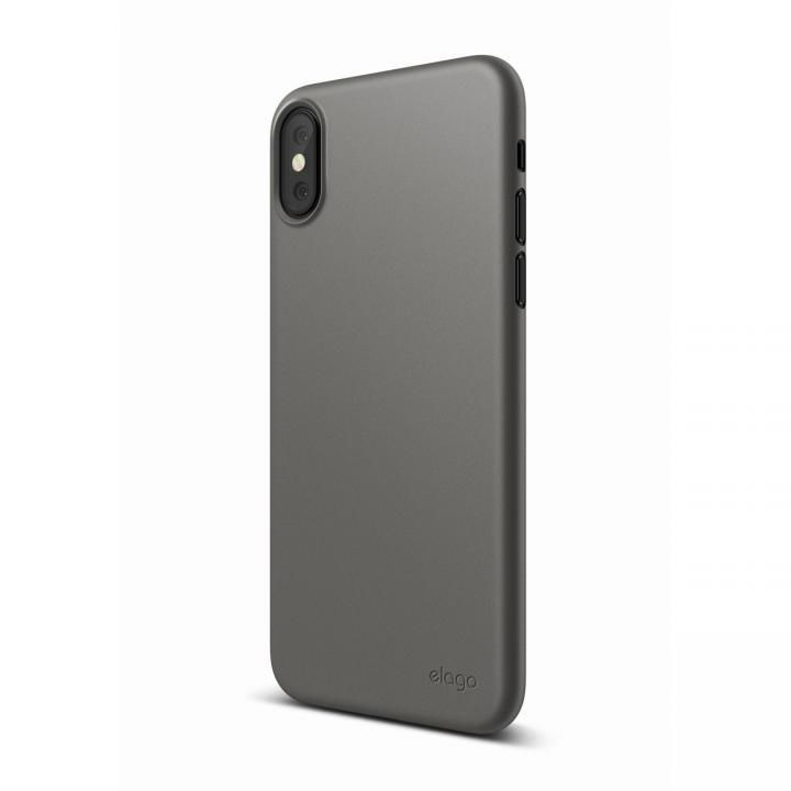 elago S8 INNER CORE 超薄型ケース ダークグレイ iPhone X