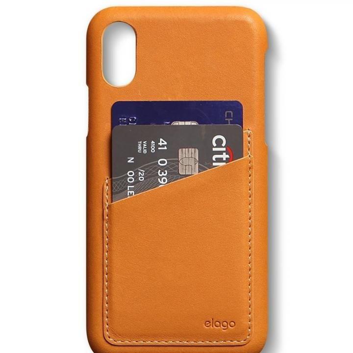 elago S8 本革ケース ブラウン iPhone XS/X
