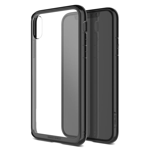 OBLIQ Naked Shield スモークブラック iPhone X