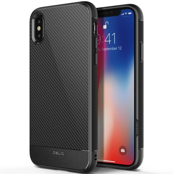 OBLIQ Flex Pro 耐衝撃ケース Carbon iPhone X