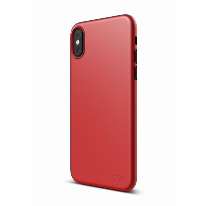 iPhone XS/X ケース elago S8 INNER CORE 超薄型ケース レッド iPhone XS/X_0