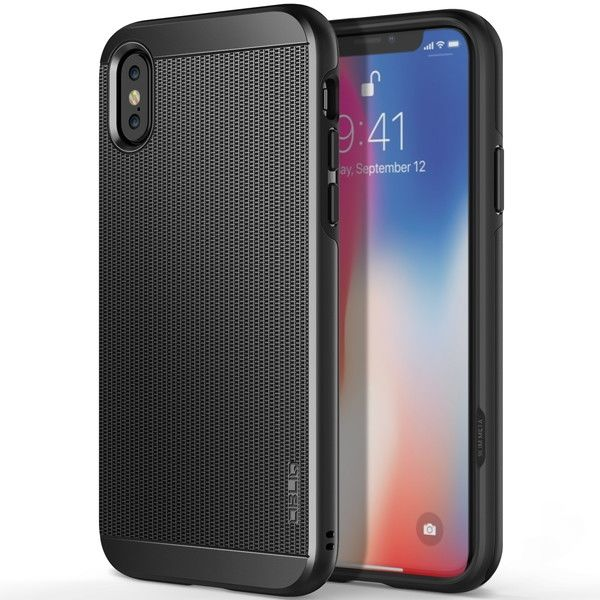 OBLIQ Slim Meta 耐衝撃ケース ガンメタル iPhone X