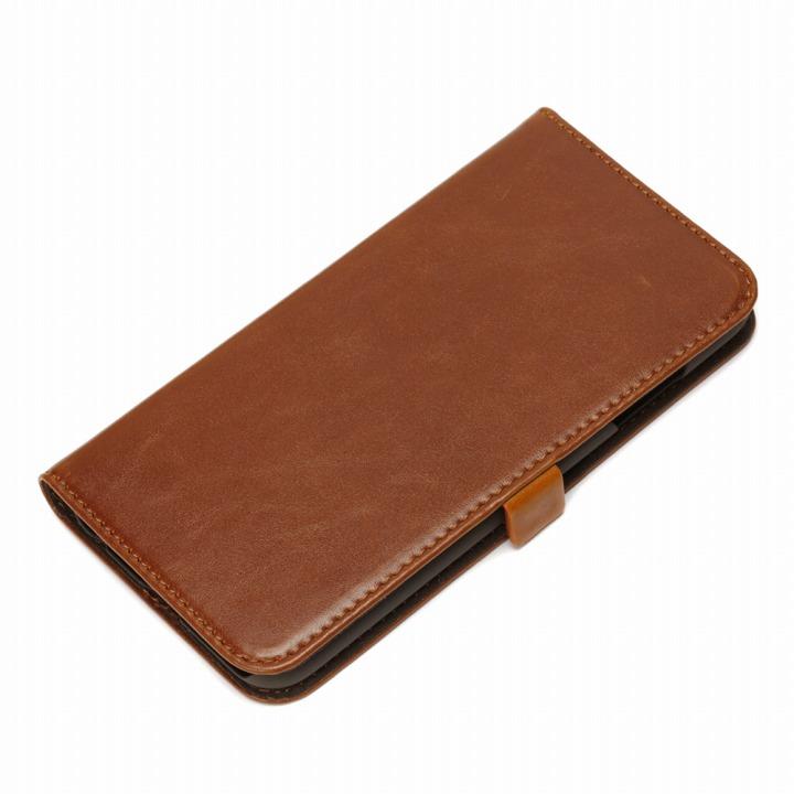 Premium Style PUレザー手帳型ケース ブラウン iPhone 6ケース