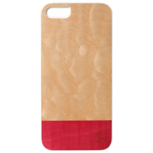 iPhone SE/5s/5 ケース 【iPhone 5s/5】 Real wood case Miss match ホワイトフレーム_0