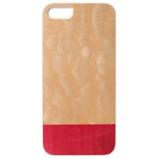 【iPhone 5s/5】 Real wood case Miss match ホワイトフレーム