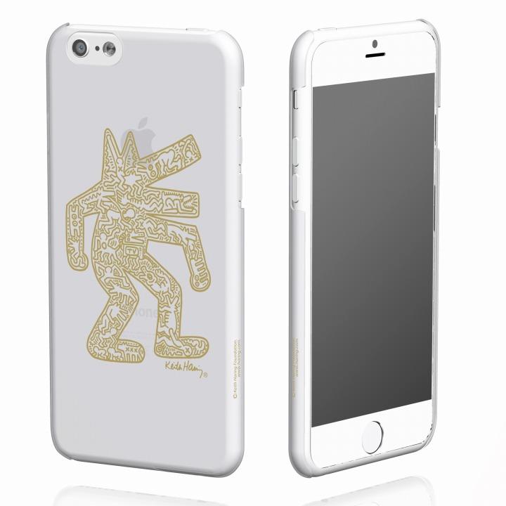 iPhone6 ケース キース・へリング コレクション ハードクリアケース ドッグ/クリア x ゴールド iPhone 6ケース_0