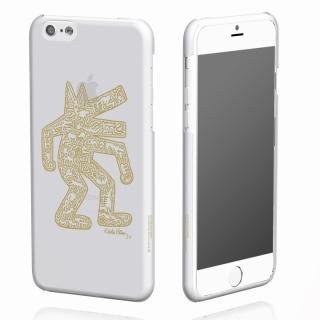 iPhone6 ケース キース・へリング コレクション ハードクリアケース ドッグ/クリア x ゴールド iPhone 6ケース