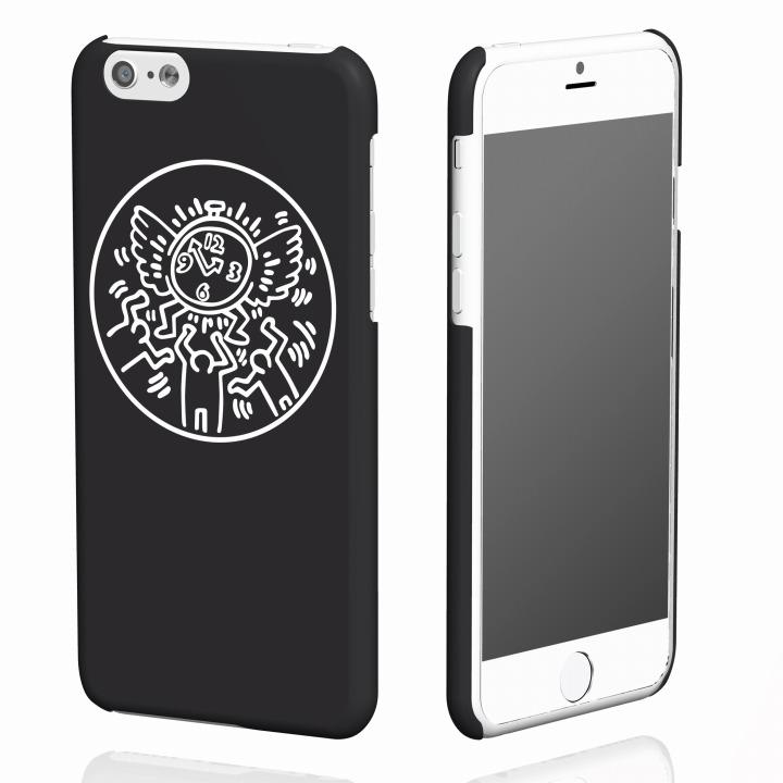 キース・へリング コレクション ハードケース ウォッチ/ブラック x ホワイト iPhone 6ケース