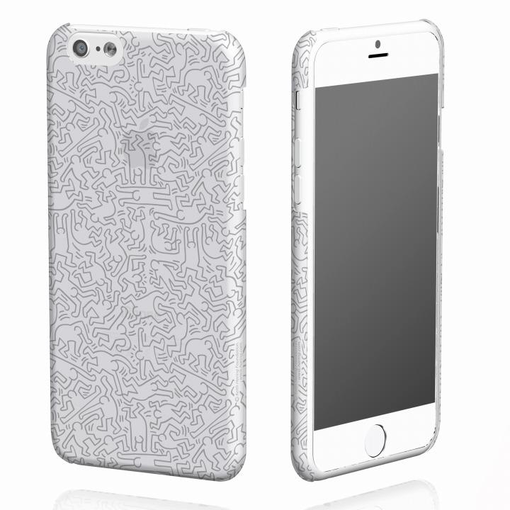 【iPhone6ケース】キース・へリング コレクション ハードクリアケース ピープル/クリア x シルバー iPhone 6ケース_0