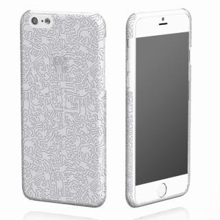 キース・へリング コレクション ハードクリアケース ピープル/クリア x シルバー iPhone 6ケース