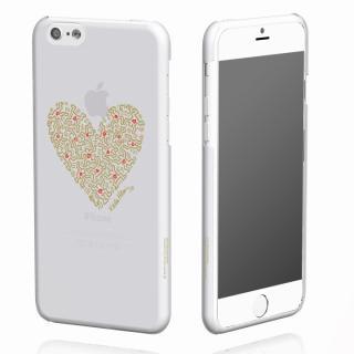 キース・へリング コレクション ハードクリアケース ハート/クリア x ゴールド iPhone 6ケース