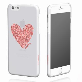 キース・へリング コレクション ハードクリアケース ハート/クリア x レッド iPhone 6ケース