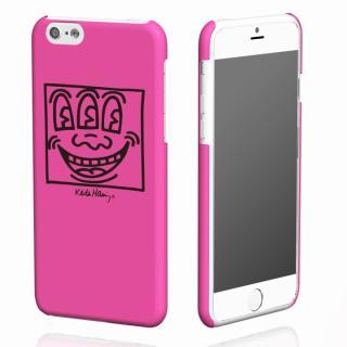 キース・へリング コレクション ハードケース フェイス/ピンク x ブラック iPhone 6ケース