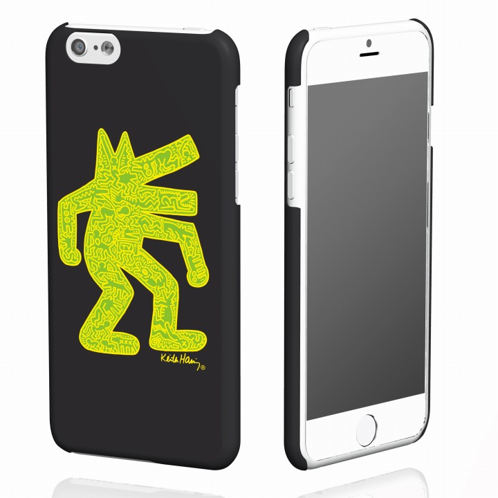 【iPhone6ケース】キース・へリング コレクション ハードケース ドッグ/ブラック x イエロー iPhone 6ケース_0