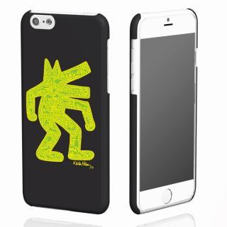 キース・へリング コレクション ハードケース ドッグ/ブラック x イエロー iPhone 6ケース